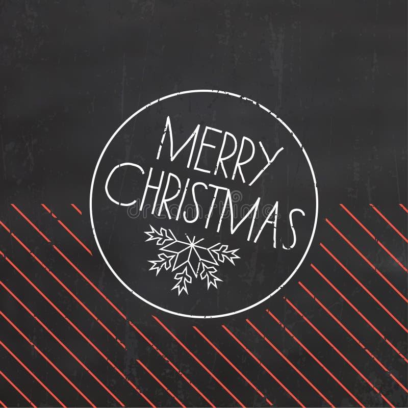 De typografische achtergrond van Kerstmis royalty-vrije stock foto's