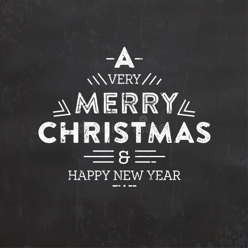 De typografische achtergrond van Kerstmis royalty-vrije stock fotografie