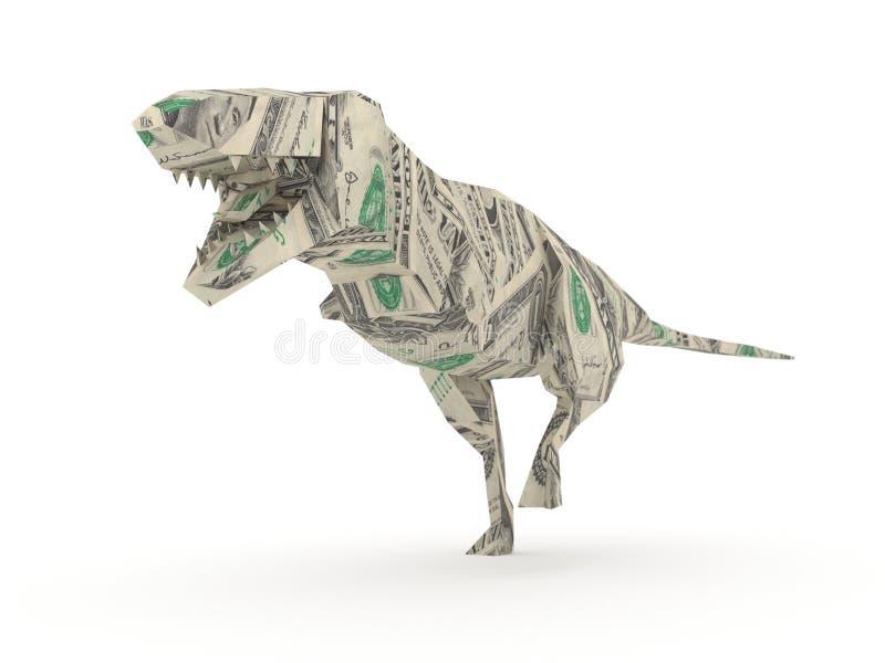 De Tyrannosaurussen Rex van de origami royalty-vrije illustratie