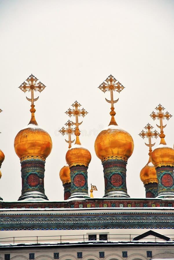 De uien van Teremkerken Oriëntatiepunten van Moskou het Kremlin Kleurenfoto stock afbeeldingen