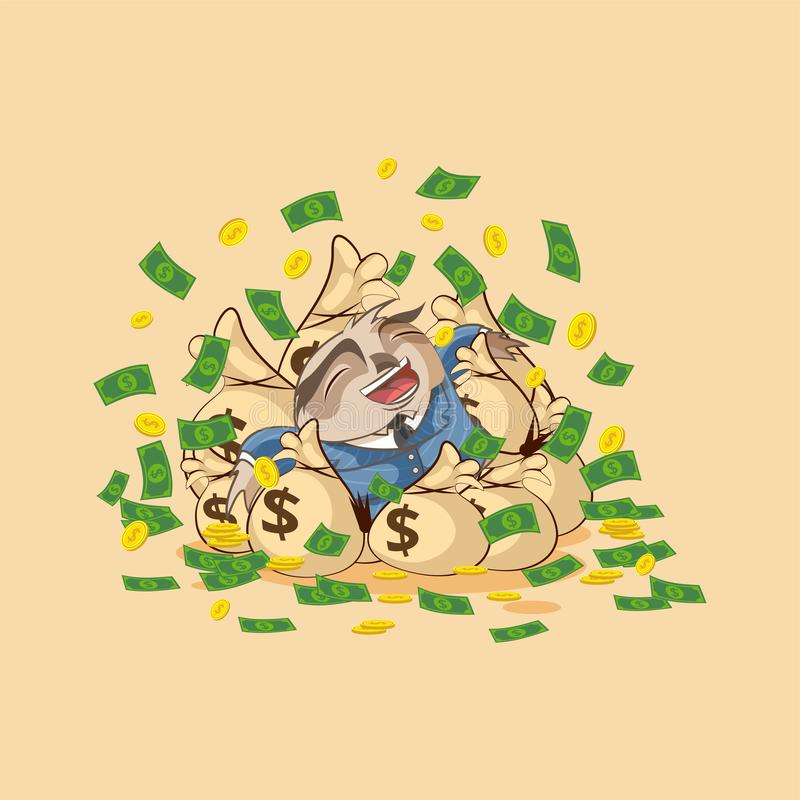 De uil in pak viert inkomenssalaris stock illustratie