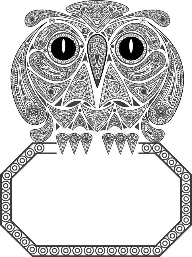 De uil van de adelaar stock illustratie