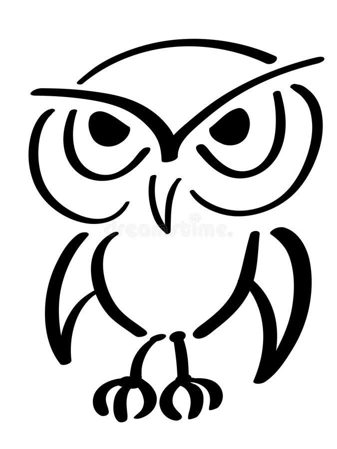 De uil van de adelaar royalty-vrije illustratie