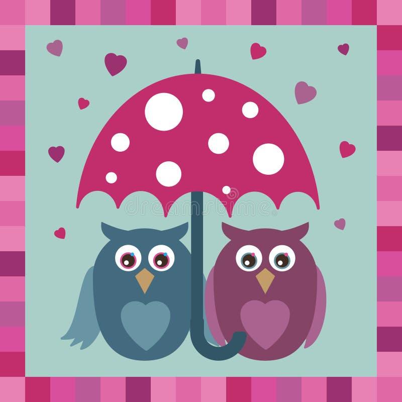 De uilen van de liefde vector illustratie