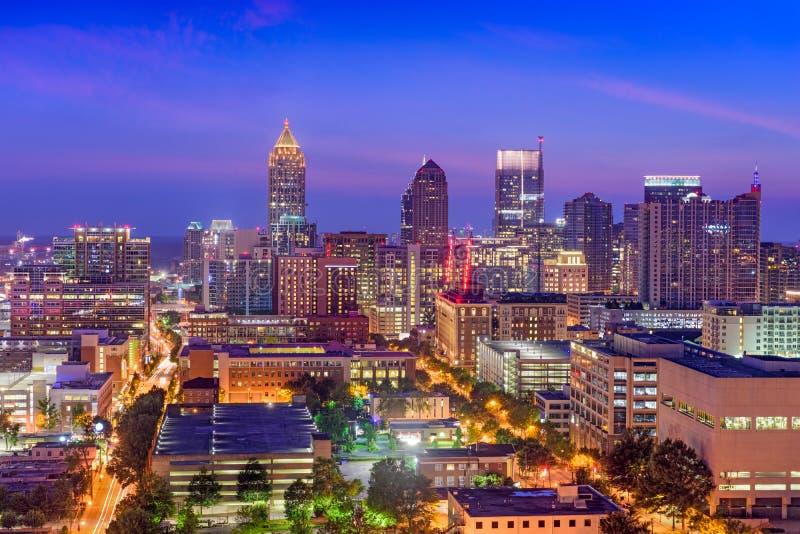 De uit het stadscentrum Horizon van Atlanta stock afbeelding