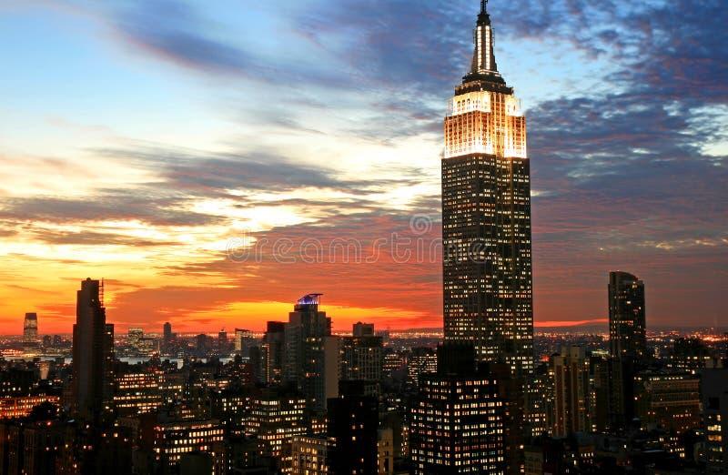 De uit het stadscentrum horizon van de Stad van New York royalty-vrije stock foto