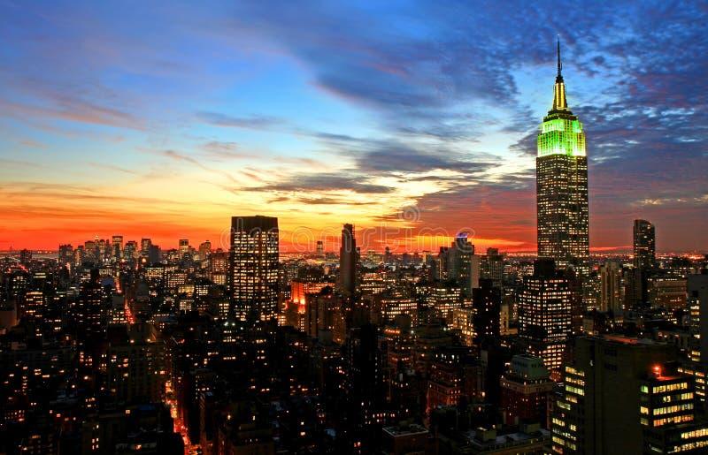 De uit het stadscentrum horizon van de Stad van New York stock foto's