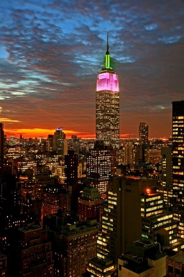 De uit het stadscentrum horizon van de Stad van New York stock afbeeldingen