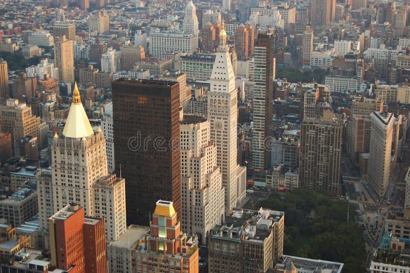 De uit het stadscentrum horizon van Manhattan stock afbeelding