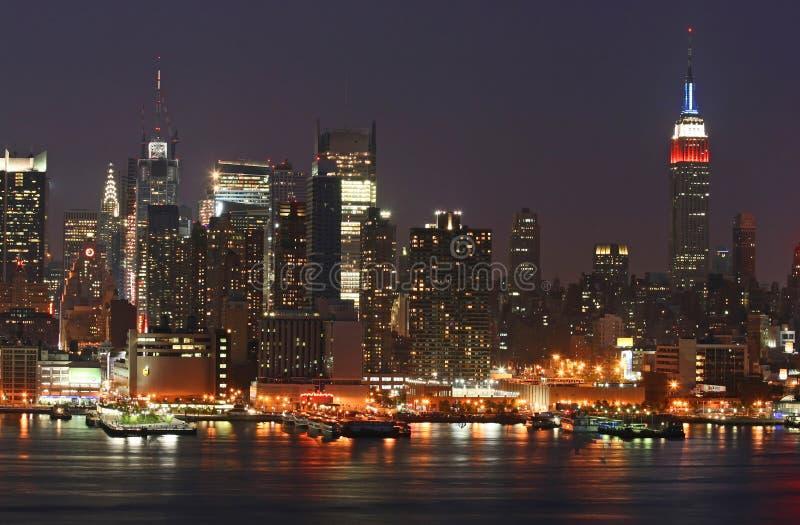 De Uit het stadscentrum Horizon van Manhattan royalty-vrije stock afbeeldingen
