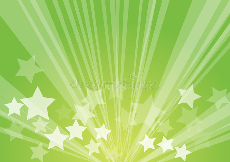De uitbarsting van de ster stock illustratie
