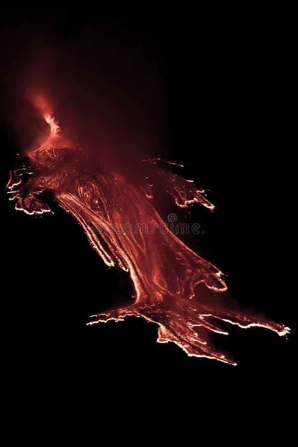 De uitbarsting van Etna stock fotografie