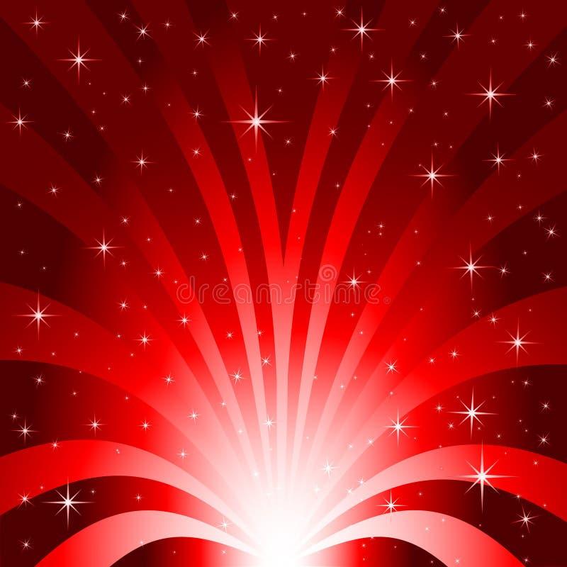 De Uitbarsting van het Gebied van de ster vector illustratie
