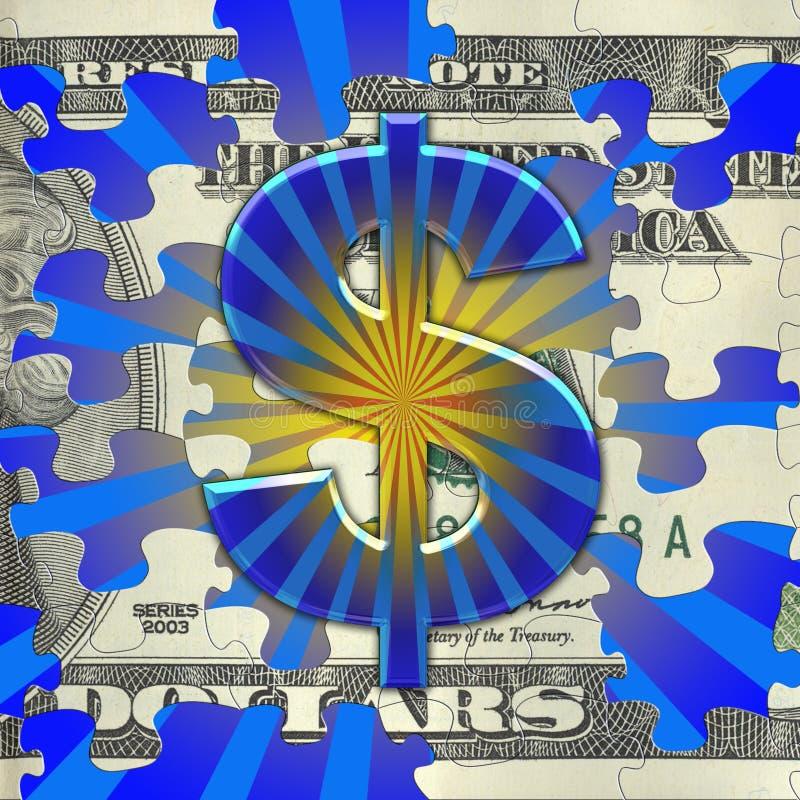 De Uitbarsting van het geld royalty-vrije illustratie