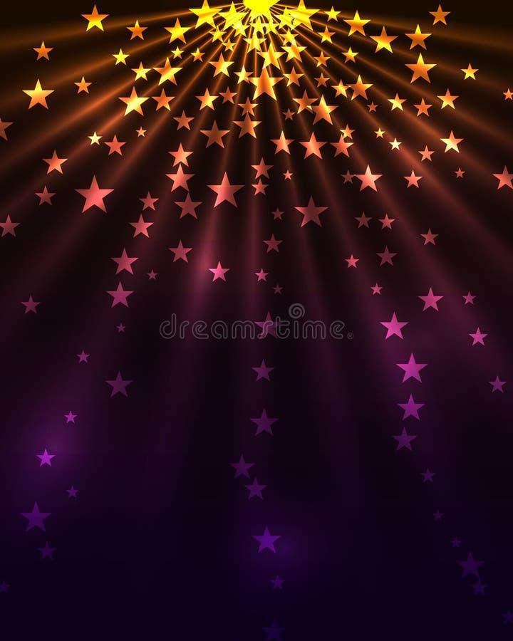 De uitbarsting van sterren vector illustratie