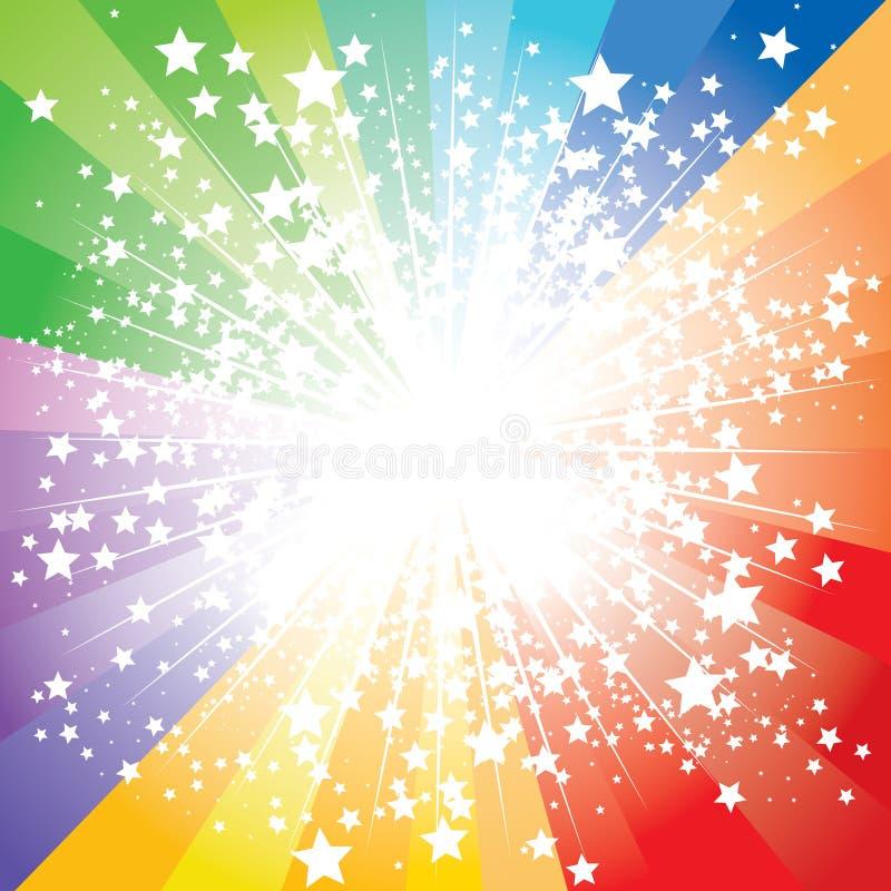 De uitbarsting van sterren royalty-vrije illustratie
