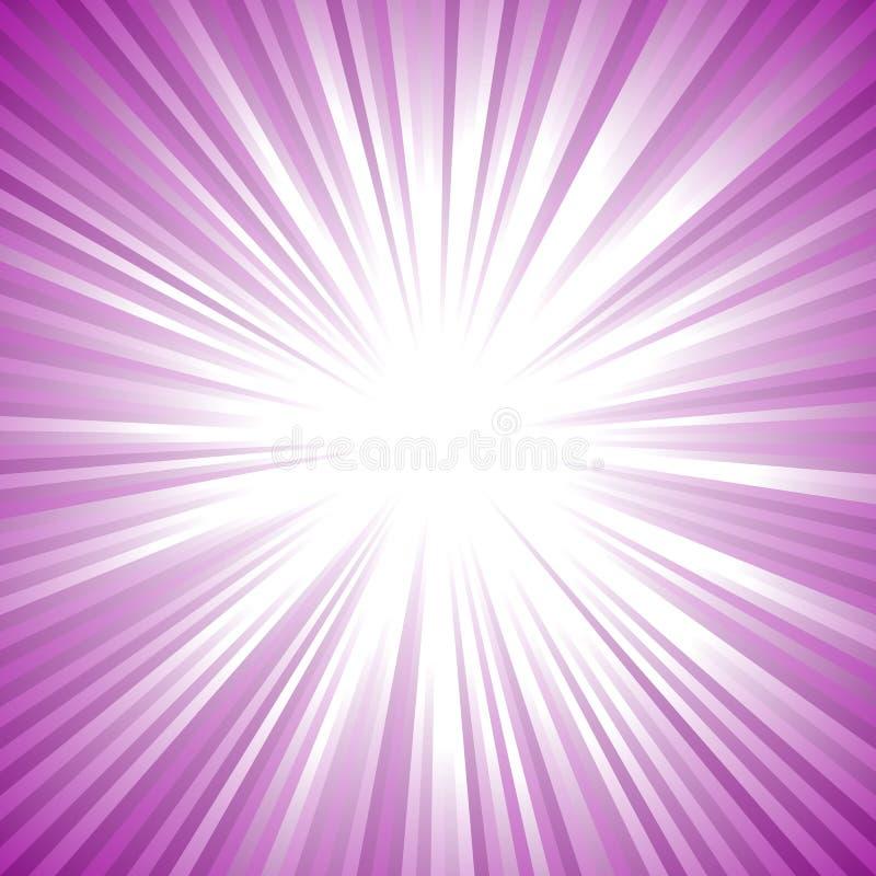 De uitbarstingsachtergrond van de gradiënt abstracte geometrische straal - retro vector grafisch ontwerp royalty-vrije illustratie