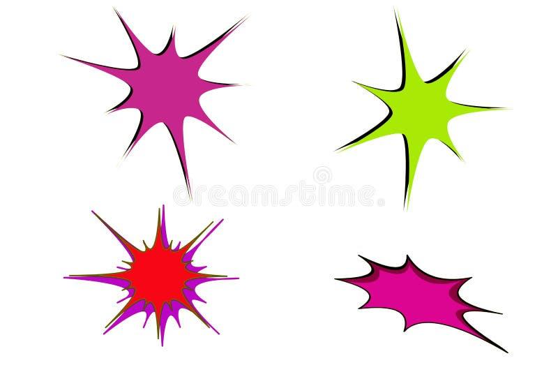 De uitbarstingspictogram van de krabbelhand getrokken ster op witte achtergrond Het ontwerp van de illustratie stock fotografie