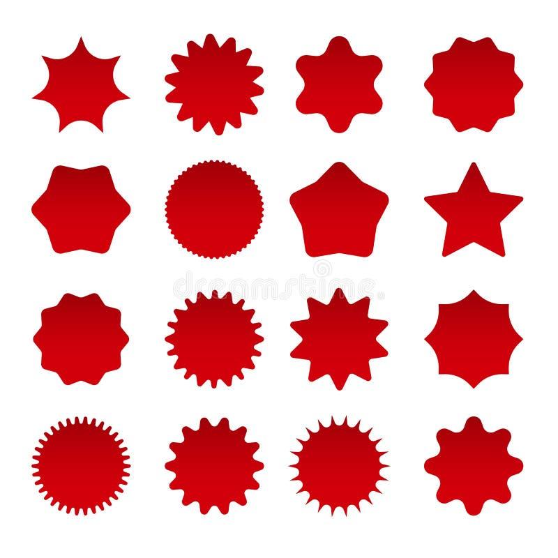 De uitbarstingsvormen van de prijs rode ster royalty-vrije illustratie