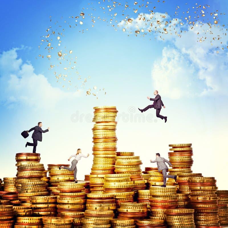De uitdaging van het geld royalty-vrije stock foto's
