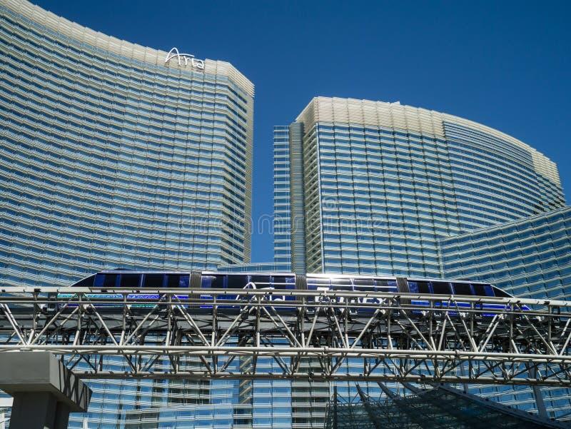 De Uitdrukkelijke Monorail Las Vegas van de aria stock afbeelding