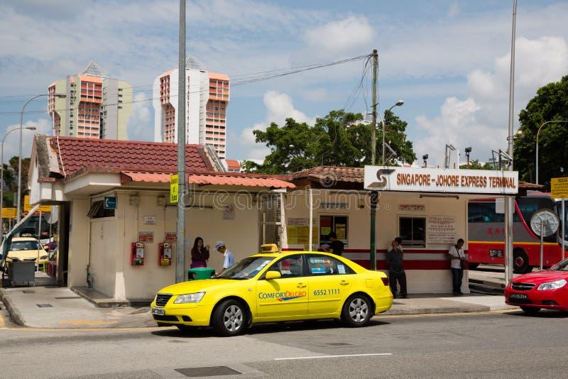 De uitdrukkelijke terminal van Johore in Singapore stock fotografie