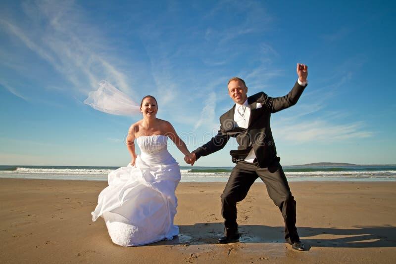 De uitdrukking van het geluk van echtpaar royalty-vrije stock foto