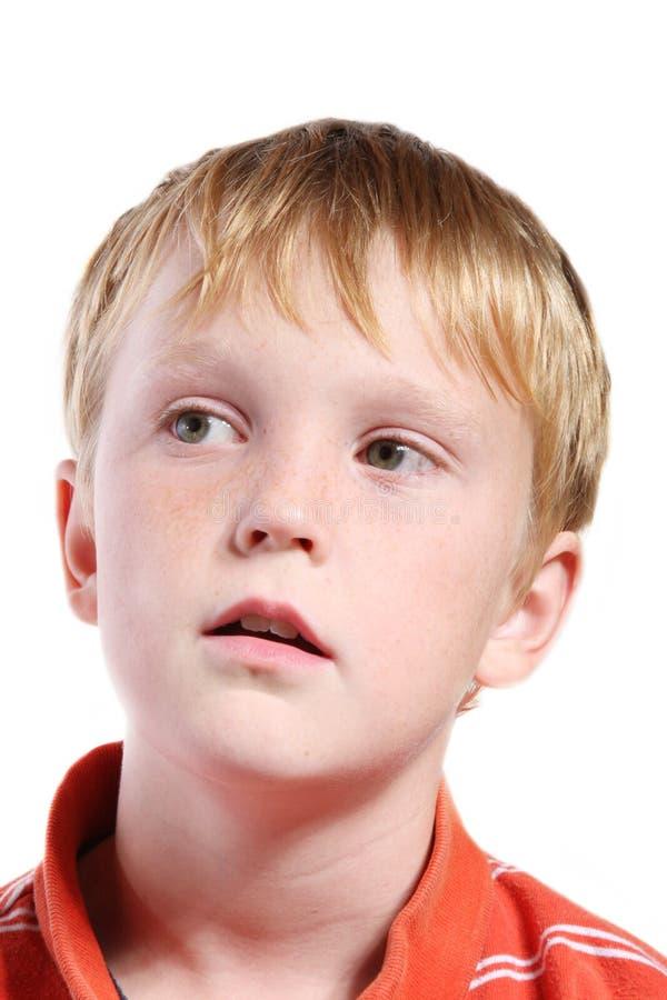 De uitdrukking van het kind stock afbeelding