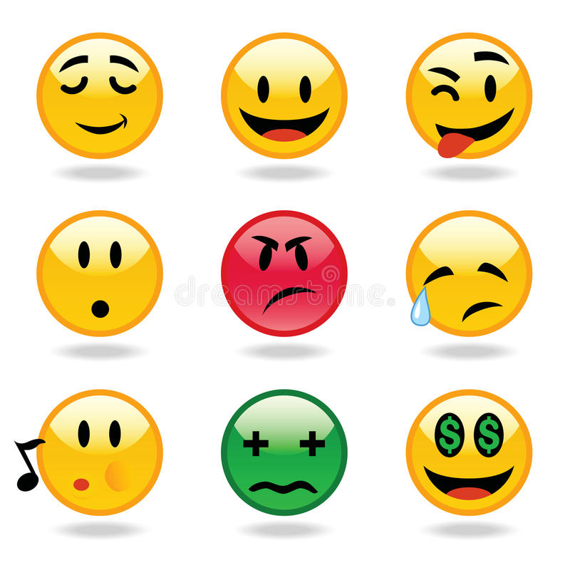 De uitdrukkingen van Emoticons royalty-vrije illustratie