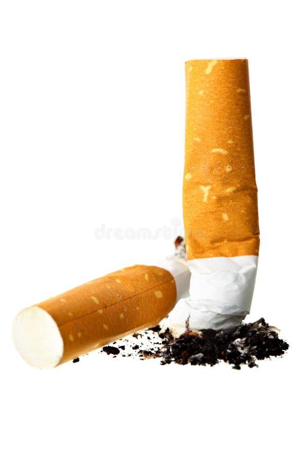 De uiteinden van de sigaret stock fotografie