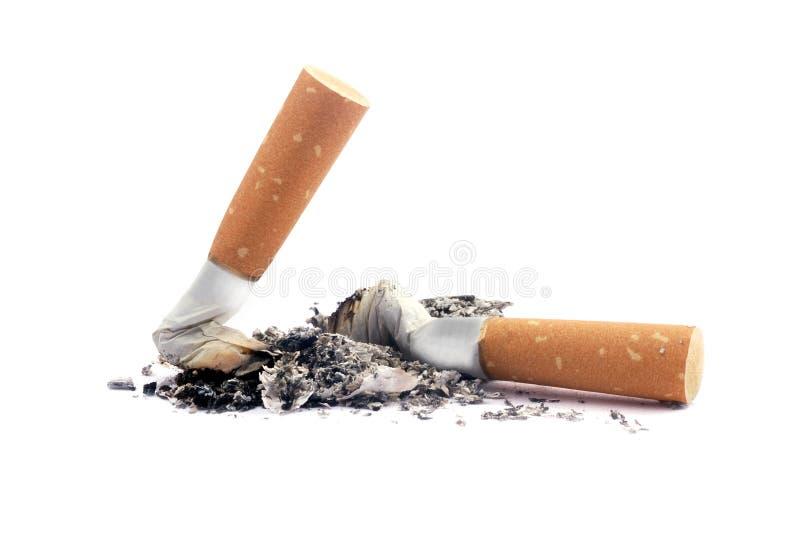 De uiteinden van de sigaret