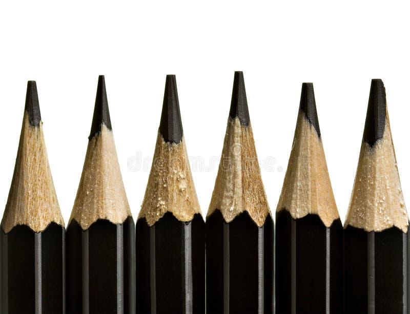 De uiteinden van het potlood royalty-vrije stock fotografie