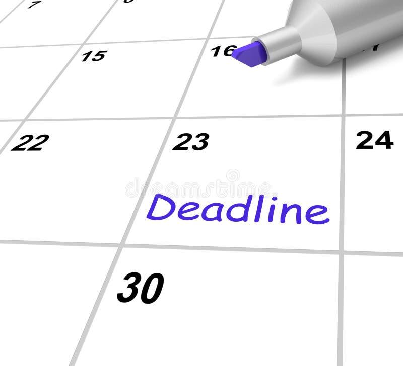 De uiterste termijnkalender betekent Doel en Vervaldatum vector illustratie