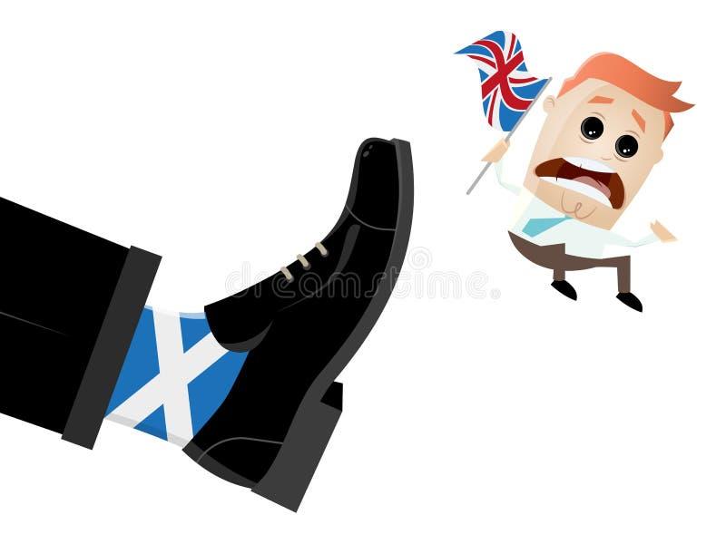 De uitgang Groot-Brittannië van Schotland stock illustratie