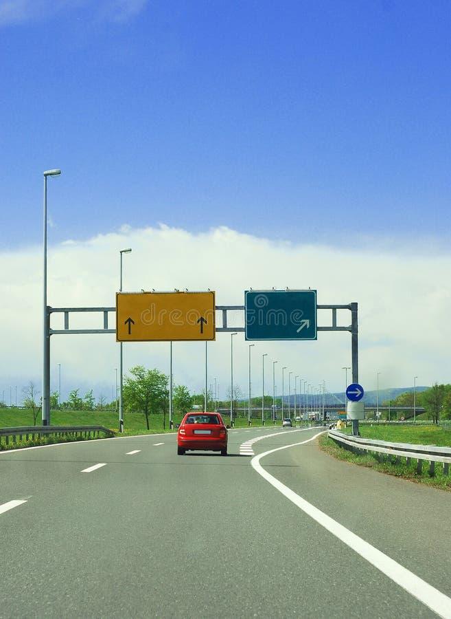 De uitgang van de weg stock afbeeldingen