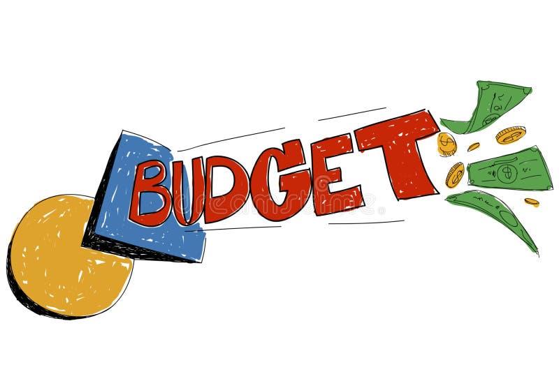 De Uitgaven die van het begrotingsbankwezen Concept plannen stock illustratie