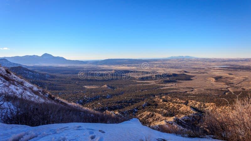 De Uitgestrektheid van zuidwestencolorado stock afbeeldingen