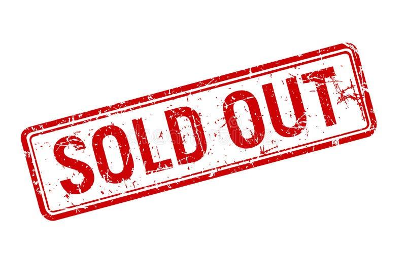 De uitgever*kopte rode grungezegel roteerde op witte achtergrond, malplaatje van het verkoop het geweven kenteken, vectorillustra royalty-vrije illustratie