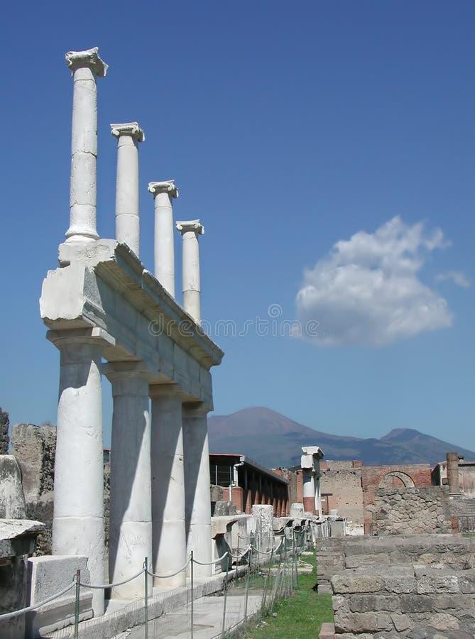 De Uitgravingen Van Pompei, Napels, Italië Stock Afbeelding