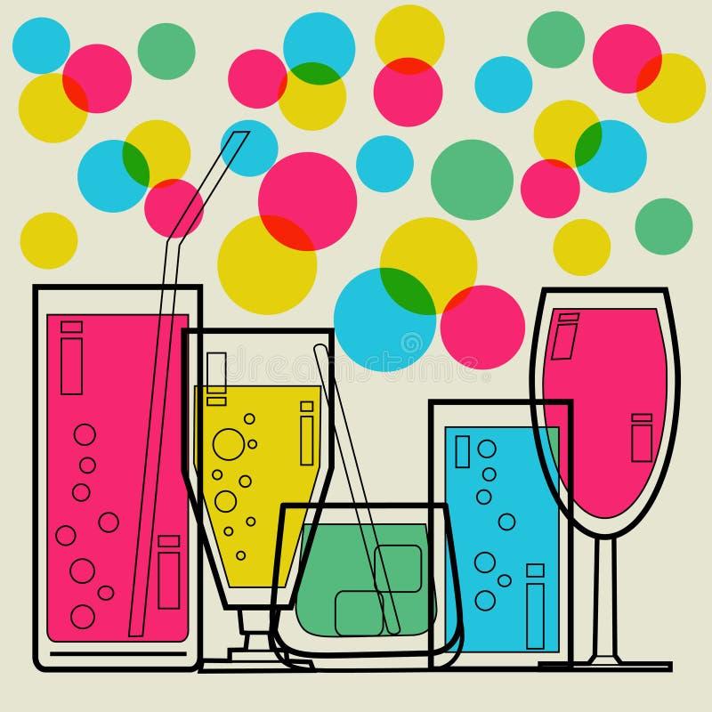 De uitnodiging van de cocktail party royalty-vrije illustratie