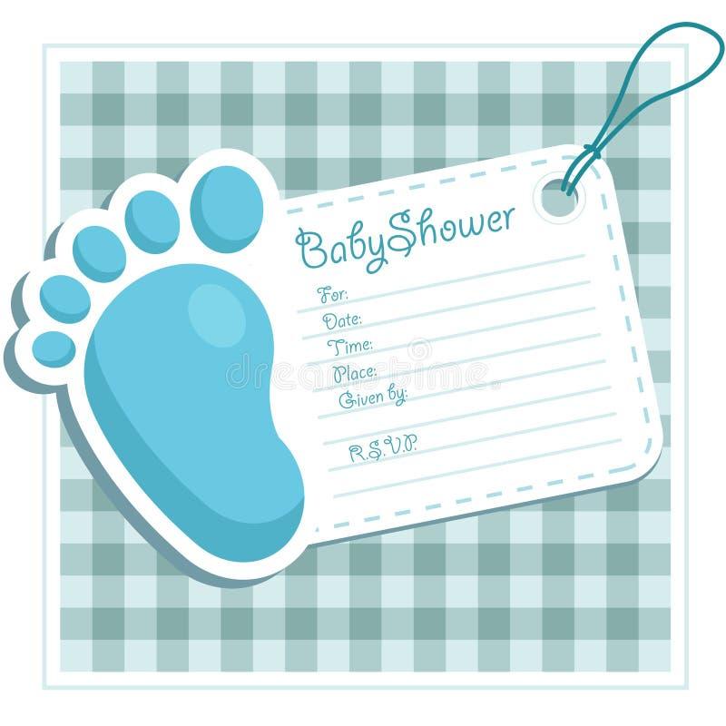 De Uitnodiging van de Douche van de baby stock illustratie