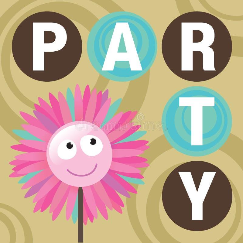 De Uitnodiging van de partij royalty-vrije illustratie
