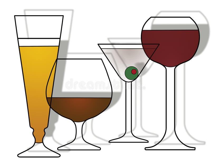 De Uitnodiging van de Partij van cocktails stock illustratie