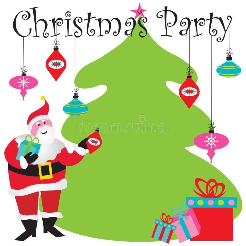 De Uitnodiging van de Partij van Kerstmis stock illustratie