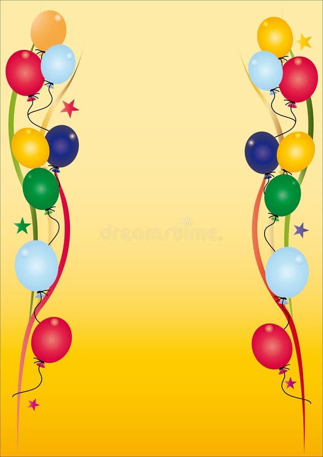 De uitnodiging van de verjaardag