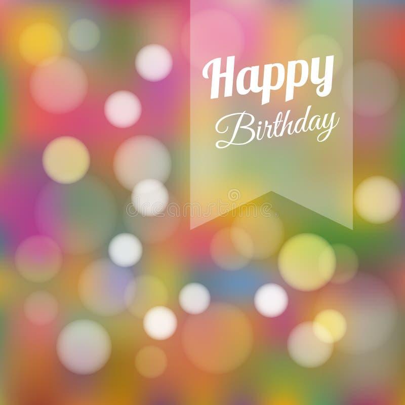 De uitnodiging van de verjaardagskaart, achtergrond stock illustratie