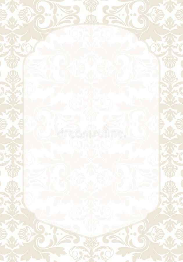 De uitnodiging van het damastpatroon vector illustratie