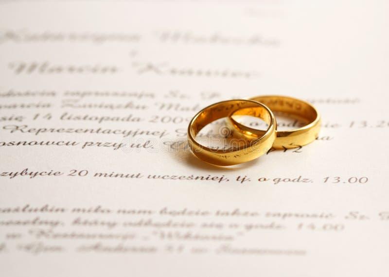 De uitnodiging van het huwelijk royalty-vrije stock fotografie