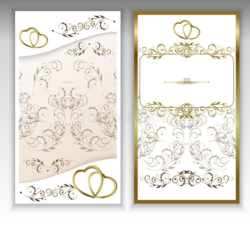 De uitnodiging van het huwelijk royalty-vrije illustratie