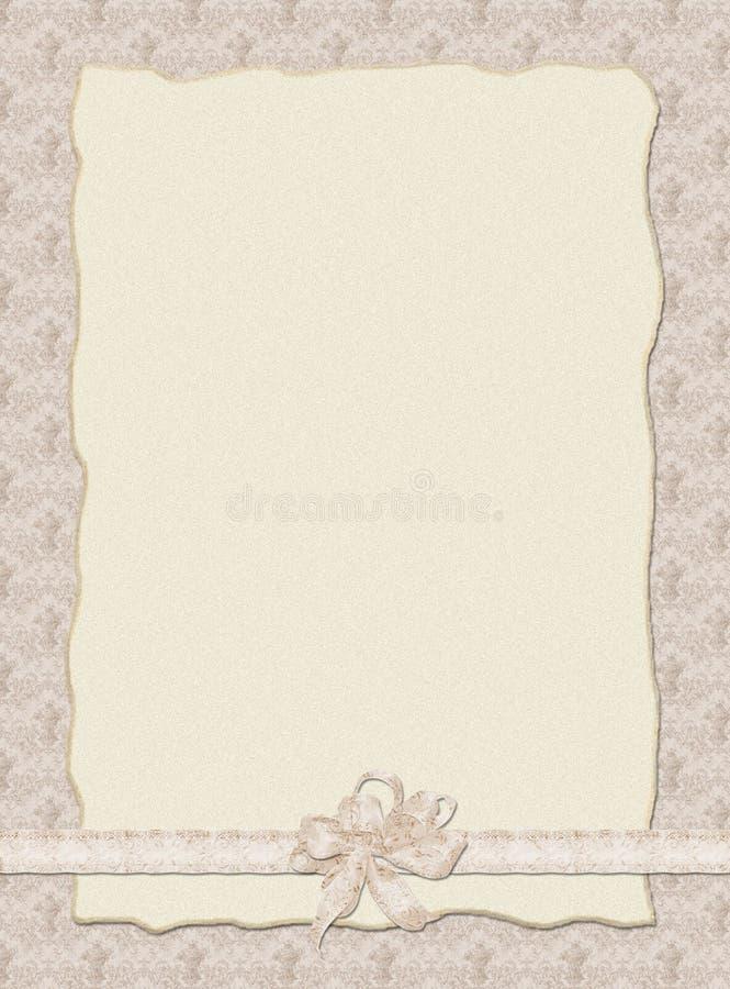 De uitnodiging van het Huwelijk van Stilish stock illustratie